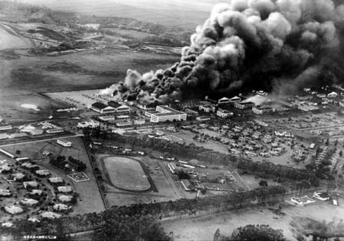 Wheeler Air Force Base under attack