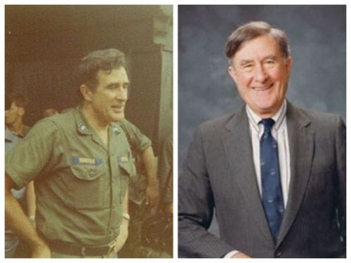 Chafee as a Marine and as a Senator