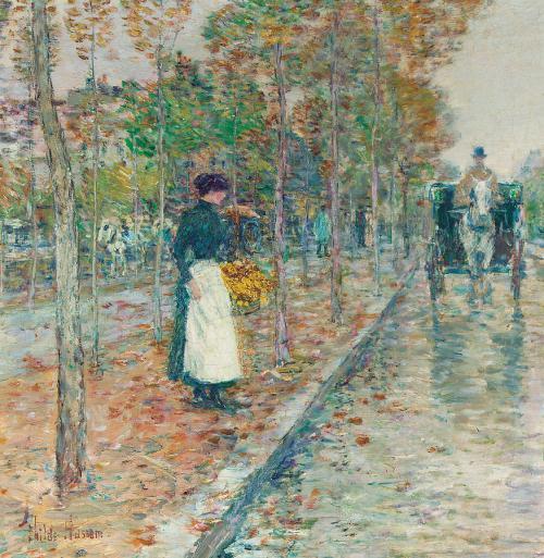 autumn-boulevard-in-paris-childe-hassam