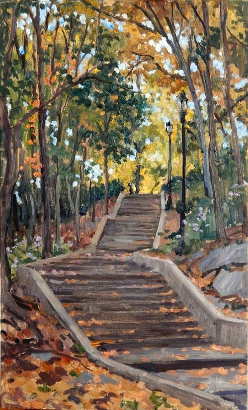 isham-park-steps-new-york-autumn-thor-wickstrom